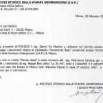 Liberatoria Archivio Storico Stampa Underground