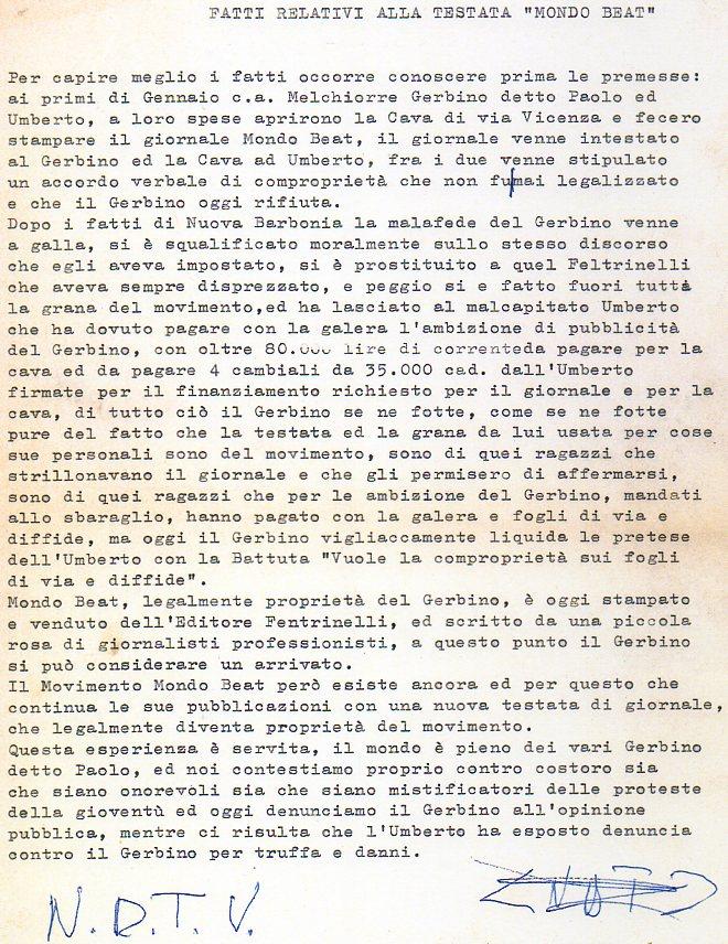 Umberto Tiboni fatti relativi testata MB