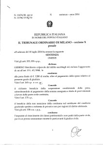 Sentenza Trib di Milano p 1